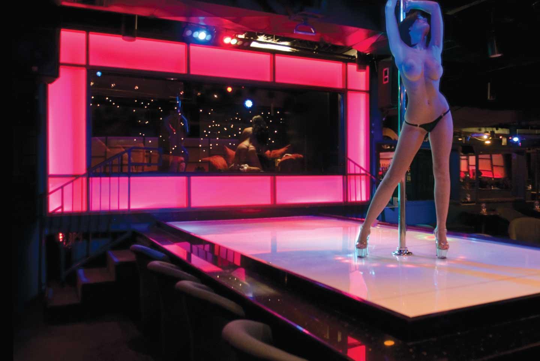 Nude dancer Cabaret club night
